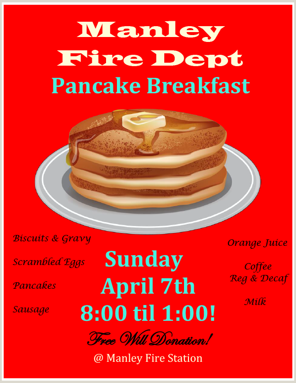 Manley Fire Red Pancake Poster Apr 2019