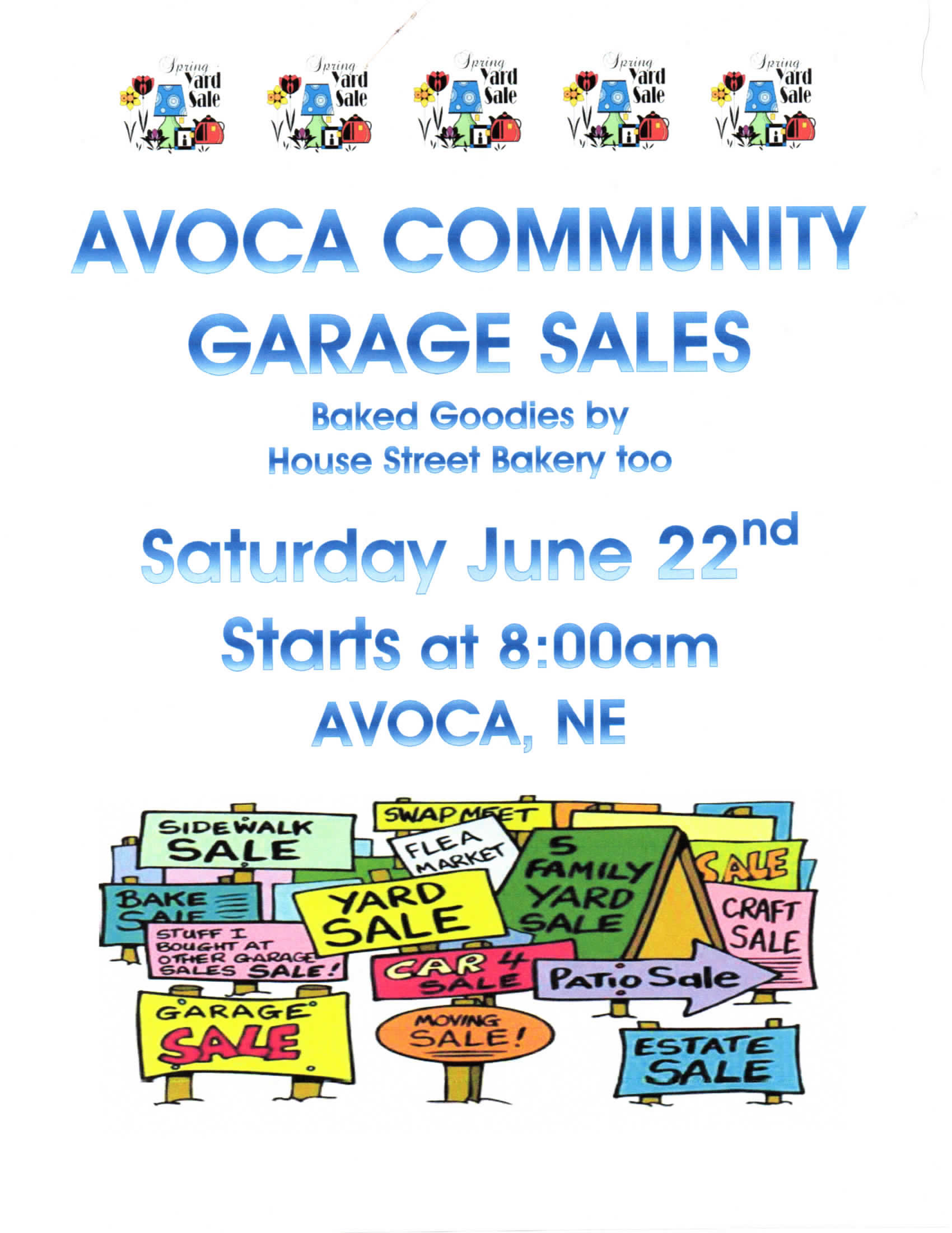 Avoca Garage Sales 6 22 19
