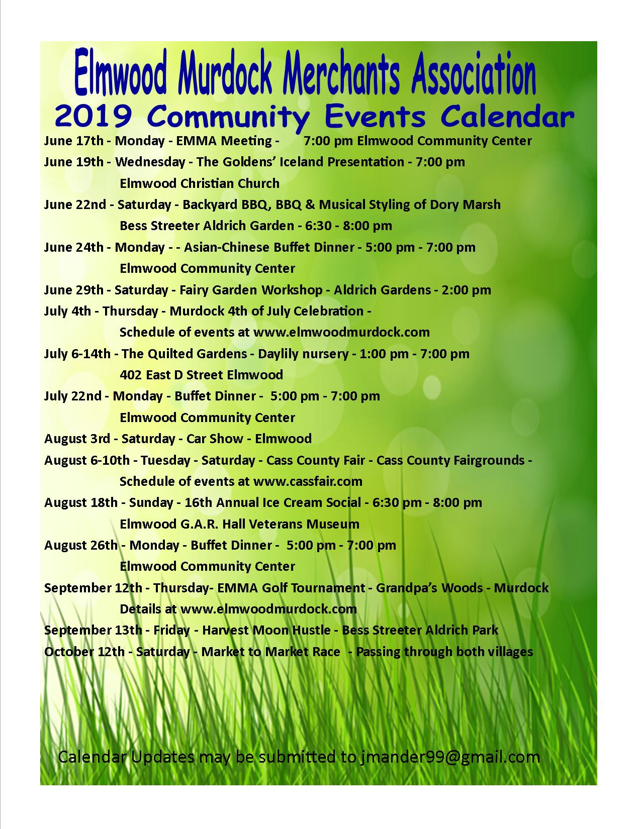 1560769456763 2019 Summer Schedule of Events