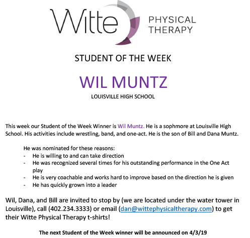 Student of the Week Selection 23