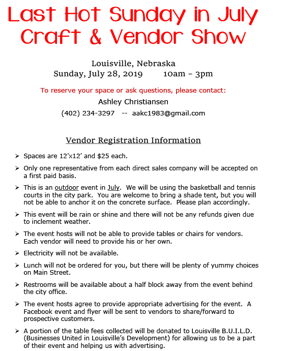 Vendor Flyer Last Hot Sunday