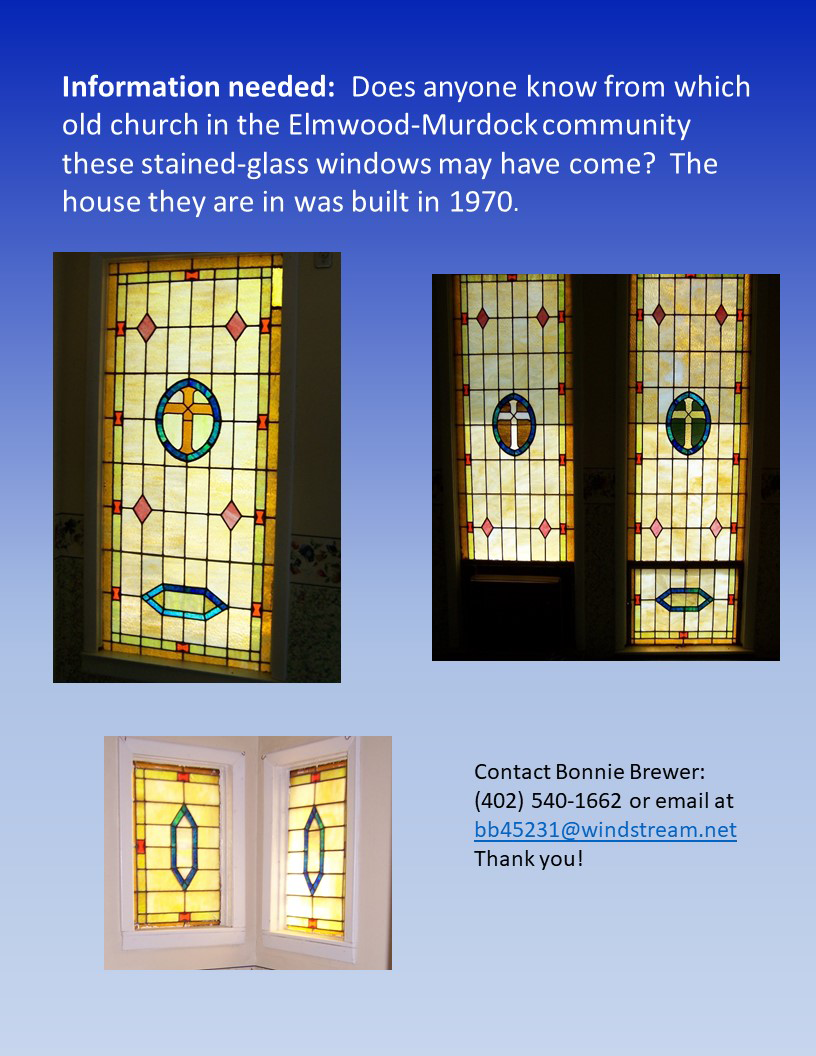 Stained Glass window flyer for newsletter